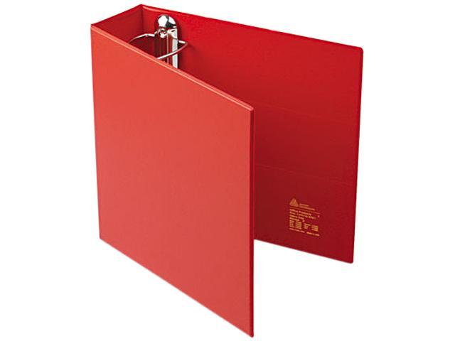 "Avery 79583 Heavy-Duty Vinyl EZD Ring Reference Binder, 3"" Capacity, Red"