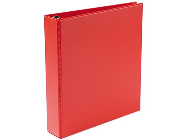 "Avery 79585 Heavy-Duty Vinyl EZD Ring Reference Binder, 1-1/2"" Capacity, Red"