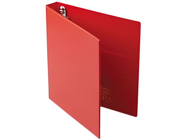 "Avery 79589 Heavy-Duty Vinyl EZD Ring Reference Binder, 1"" Capacity, Red"
