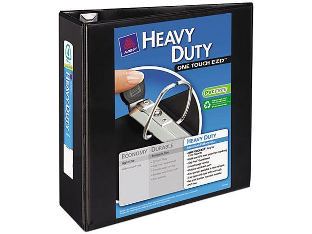 """Avery 79604 Nonstick Heavy-Duty EZD Reference View Binder, 4"""" Capacity, Black"""
