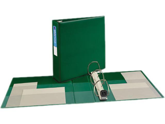 "Avery 79783 Heavy-Duty Vinyl EZD Ring Reference Binder, 3"" Capacity, Green"