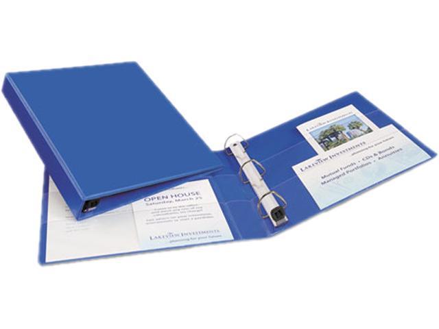 "Avery 79889 Heavy-Duty Vinyl EZD Ring Reference Binder, 1"" Capacity, Blue"