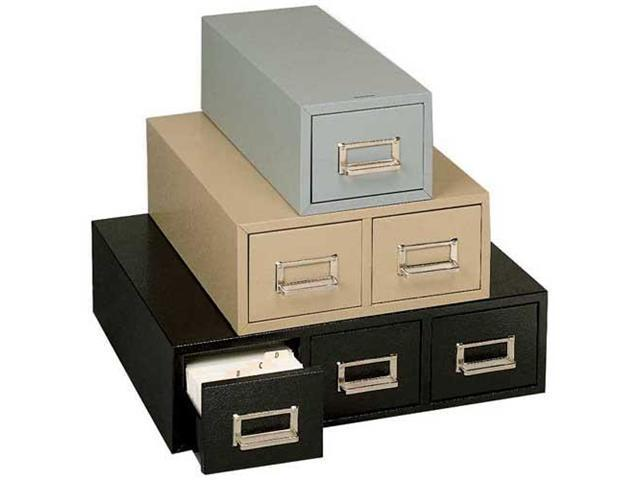 Buddy Products 1369-4 Steel Single Drawer Card Cabinet Holds 1500 6 x 9 Cards, 16