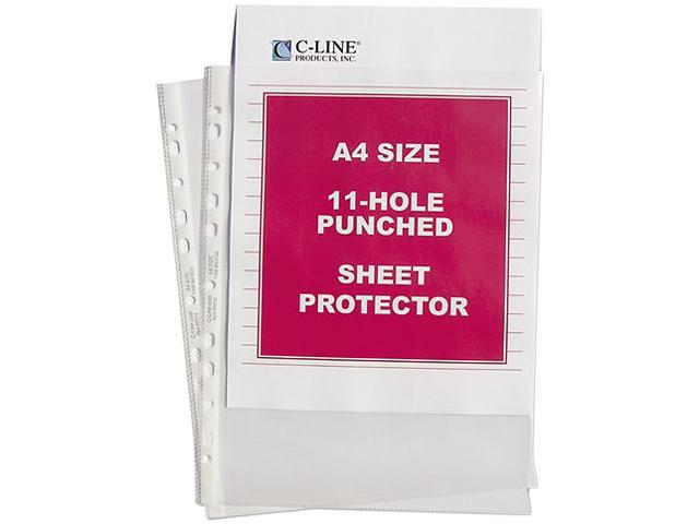 C-line 08037 Size A4 Sheet Protectors, Standard Gauge, 8-1/4 x 11-3/4, 50/Box