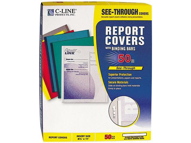 C-line 32457 Report Cover w/Binding Bar, Letter, 1/8