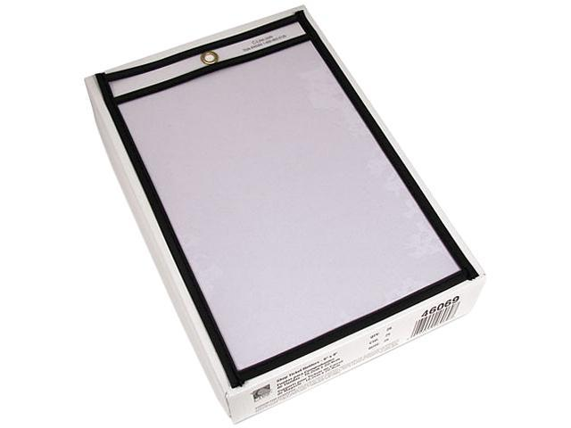C-line 46069 Shop Ticket Holders, 6 x 9, Clear Front & Back w/Black Stitching, 25/Box