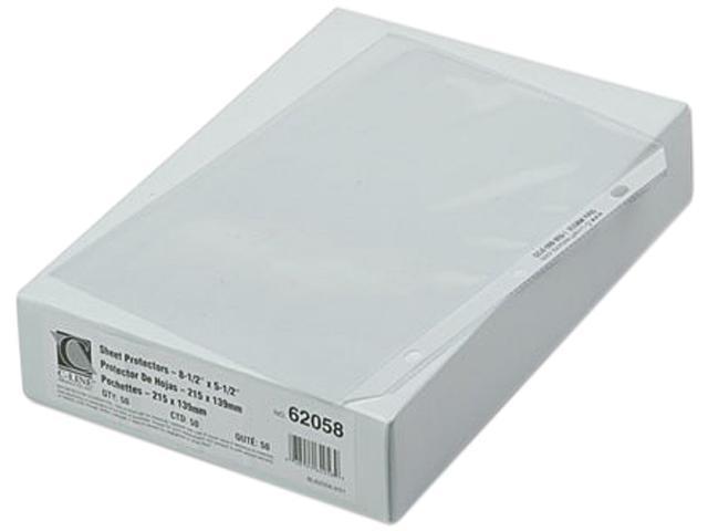 C-line 62058 Top-Load Poly Sheet Protectors, Heavy Gauge, 8-1/2 x 5-1/2, 50/Box