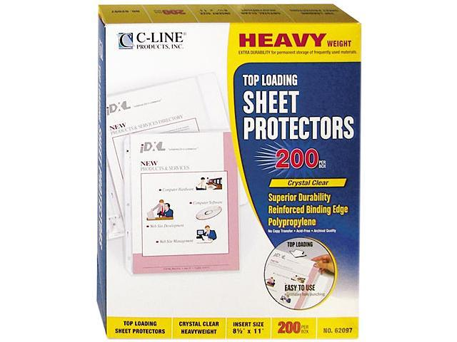 C-line 62097 Top-Load Polypropylene Sheet Protectors, Heavy Gauge, Letter, 200/Box