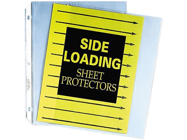 C-line 62313 Side-Loading Sheet Protectors, Sealed On Three Sides, Letter, 50/Box