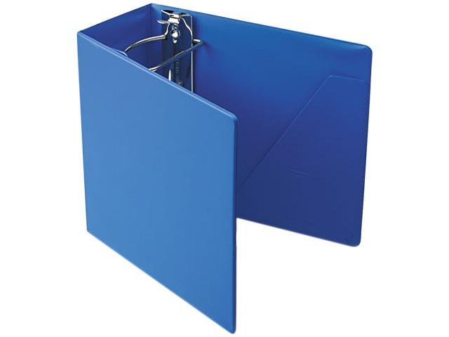 "Cardinal 11942 Heavyweight Vinyl Slant-D Ring Binder With Finger Hole, 5"" Capacity, Blue"