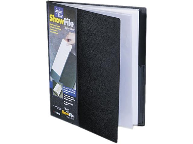 Cardinal 51132 SpineVue ShowFile Display Book w/Wrap Pocket, 12 Letter-Size Sleeves, Black