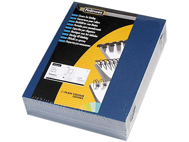 52098 Fellowes Linen Texture Presentation Binding System Covers, 11 x 8-1/2, Navy, 200/Pack