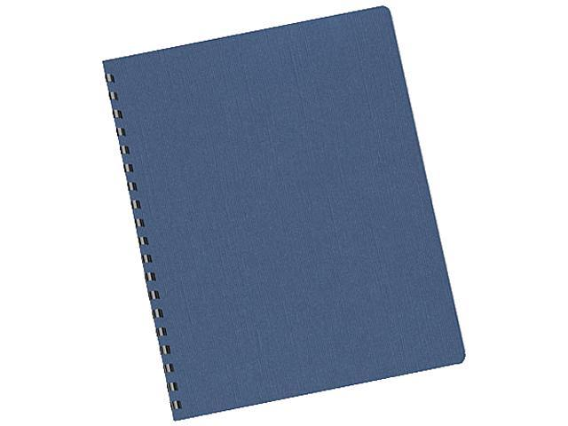 52113 Fellowes Linen Texture Binding System Covers, 11-1/4 x 8-3/4, Navy, 200/Pack