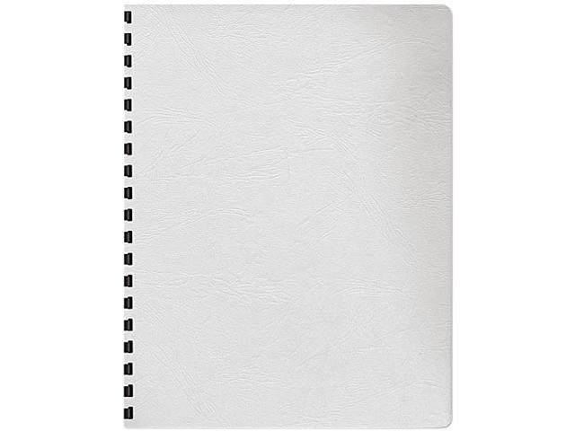 52137 Fellowes Classic Grain Texture Binding System Covers, 11-1/4 x 8-3/4, White, 200/Pack