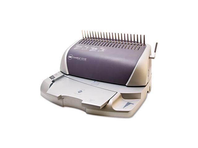 7708175 GBC CombBind C210E Electric Binding System, 300 Sheets, 16w x 14d x 9h, Gray/Silver
