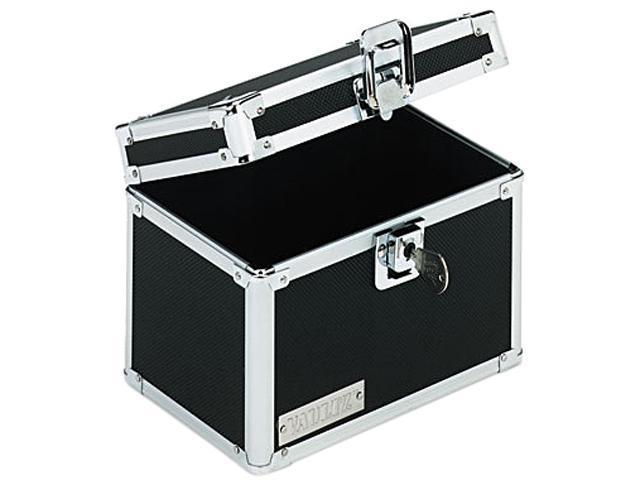 Vaultz VZ01171 Vaultz Locking Index Card File with Flip Top Holds 450 4 x 6 Cards, Black