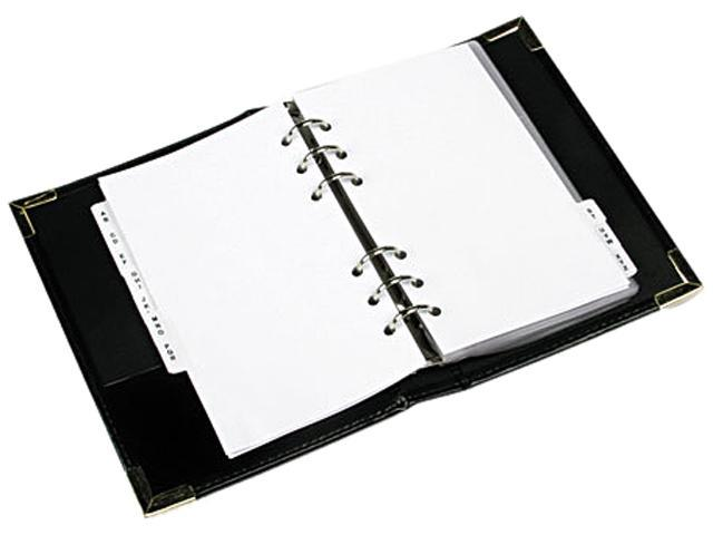 Rolodex 66454 Small Business Card Binder with Tabs Holds 120 2 1/4 x 4 Cards, Black