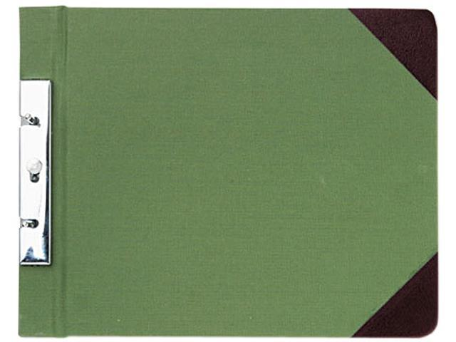 Wilson Jones 278-26 Canvas Sectional Post Binder, 11 x 8-1/2, 2-3/4 Center, Green