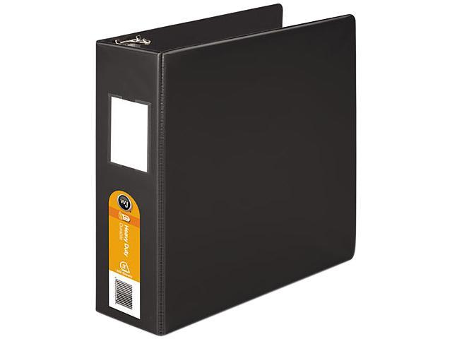 Wilson Jones 384-49B Heavy-Duty No-Gap D-Ring Binder With Label Holder, 3