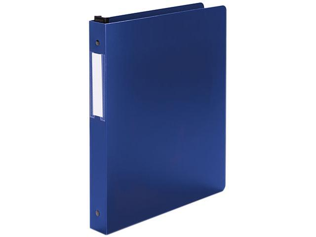 "Wilson Jones 390-14BL Hanging DublLock Round Ring Poly Binder,11 x 8-1/2, 1"" Capacity, Blue"