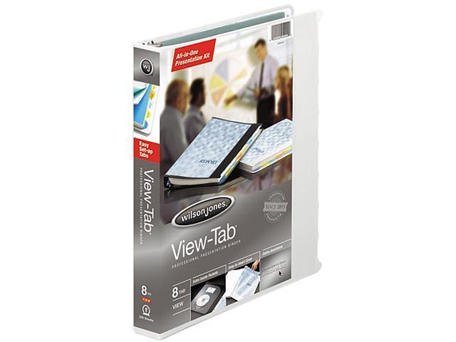 Wilson Jones 55094 View-Tab Round Ring Presentation Binder, 8-Tab Style, 1