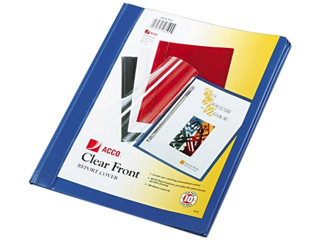 Acco 26102 Vinyl Report Cover, Prong Clip, Letter, 1/2