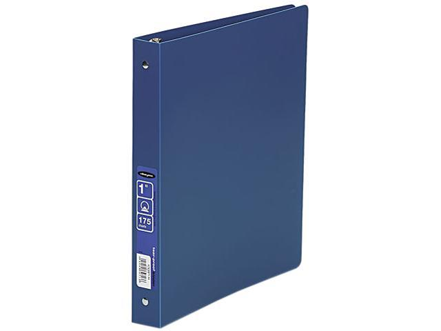 "ACCO 39713 ACCOHIDE Poly Ring Binder With 35-Pt. Cover, 1"" Capacity, Blue"