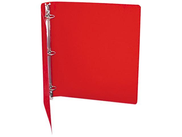 "ACCO 39719 ACCOHIDE Poly Ring Binder With 35-Pt. Cover, 1"" Capacity, Executive Red"
