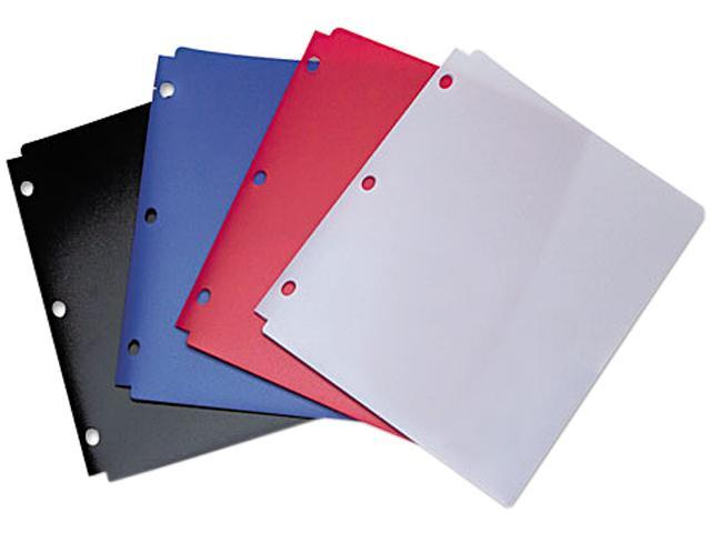 Acco 40023 Snapper Twin Pocket Poly Folder, 8-1/2 x 11, Assorted Colors