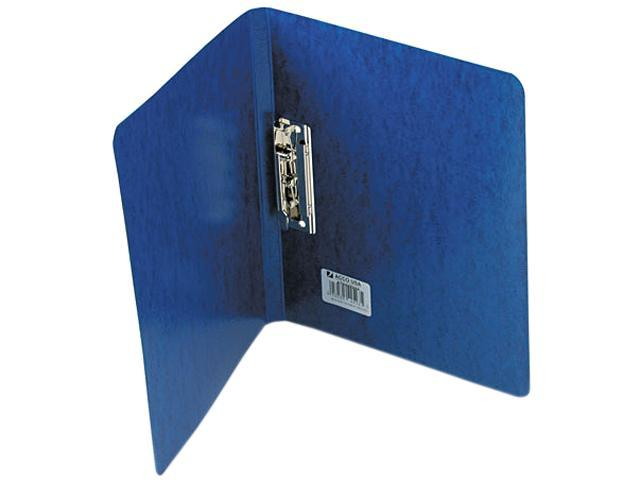 "ACCO 42523 PRESSTEX Grip Punchless Binder With Spring-Action Clamp, 5/8"" Cap, Dark Blue"