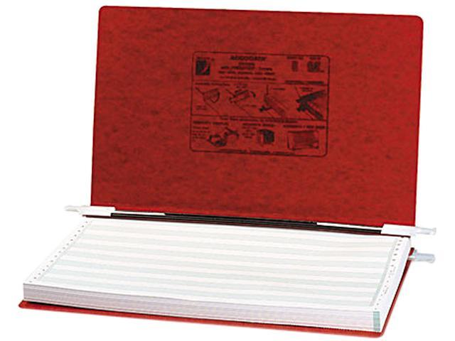ACCO 54049 Pressboard Hanging Data Binder, 14-7/8 x 8-1/2 Unburst Sheets, Executive Red