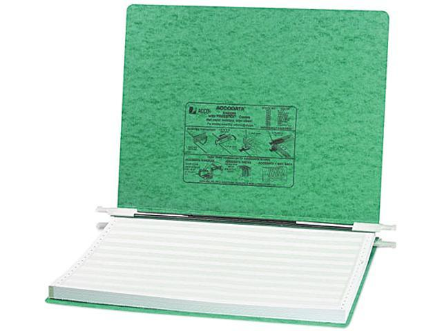 ACCO 54075 Pressboard Hanging Data Binder, 14-7/8 x 11 Unburst Sheets, Light Green