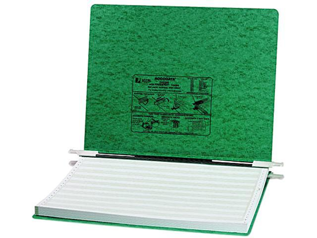ACCO 54076 Pressboard Hanging Data Binder, 14-7/8 x 11 Unburst Sheets, Dark Green