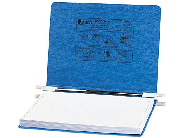 ACCO 54132 Pressboard Hanging Data Binder, 12 x 8-1/2 Unburst Sheets, Light Blue