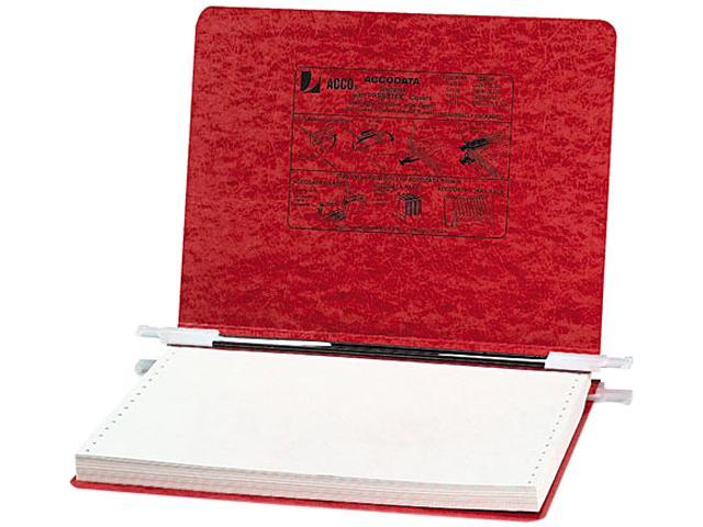 ACCO 54139 Pressboard Hanging Data Binder, 12 x 8-1/2 Unburst Sheets, Executive Red