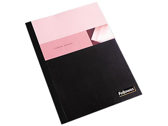 "Fellowes Thermal Presentation Covers - 1/2"", 120 sheets, Black"