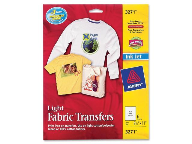 Iron-On T-Shirt Transfers 6/PK 8-1/2