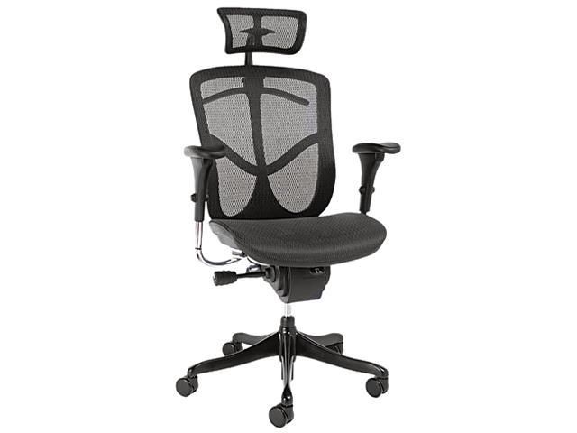 EQ Series Ergonomic Multifunction High-Back Mesh Chair, Black Base