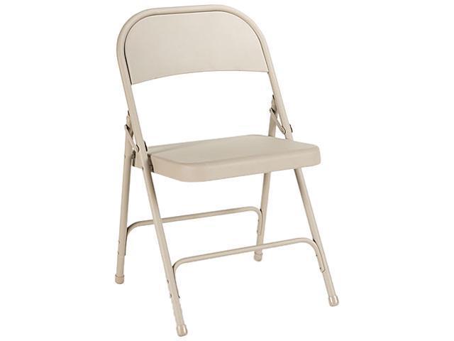 Steel Folding Chair, Tan, 4/Carton