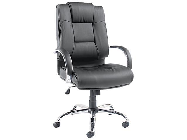 Ravino Series High-Back Swivel/Tilt Leather Chair, Black