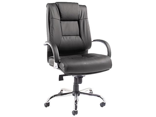 Ravino Big & Tall Series High-Back Swivel/Tilt Leather Chair, Black