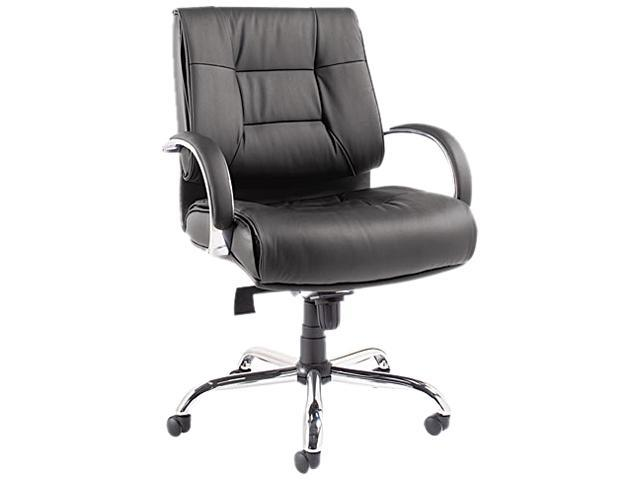 Ravino Big & Tall Series Mid-Back Swivel/Tilt Leather Chair, Black