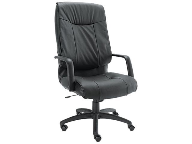 Alera ST41LS10B Stratus Series Leather High-Back Swivel/Tilt Chair, Black