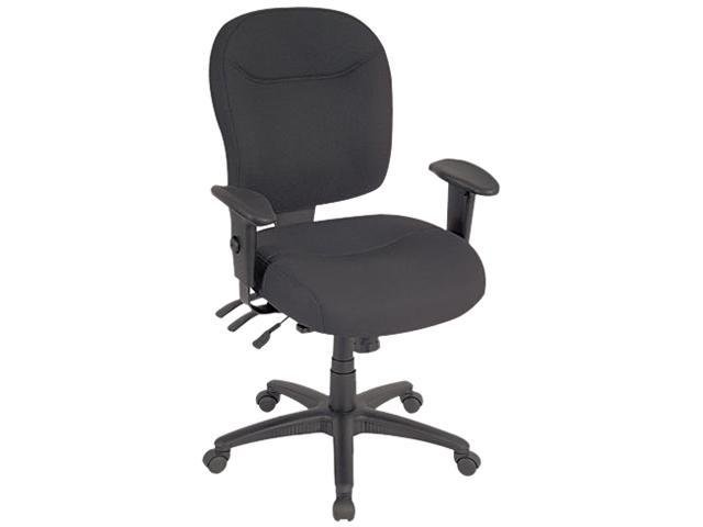 Wrigley Series Mid-Back Multifunction Chair, Black, Adjustable Arms