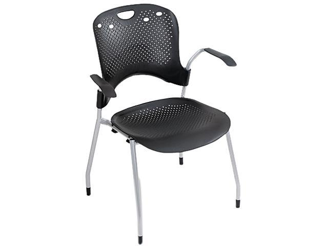 BALT 34554 Circulation Series Stacking Chair, Black, 25 x 23-3/4 x 34