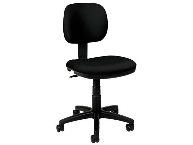 basyx VL610VA10T VL610 Series Swivel Task Chair, Black Fabric/Black Frame