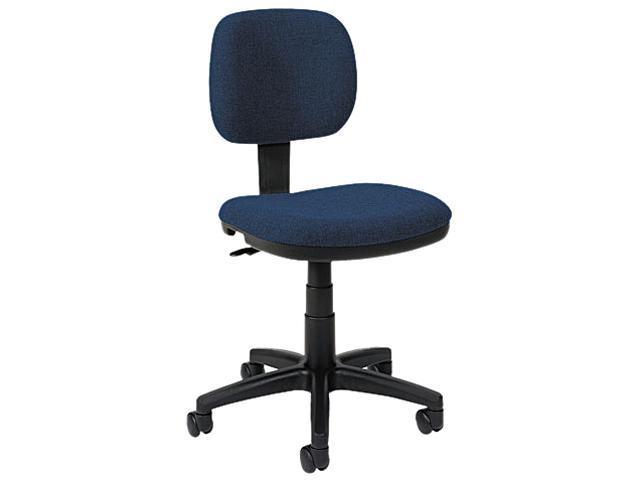 basyx VL610VA90T VL610 Series Swivel Task Chair, Navy Fabric/Black Frame