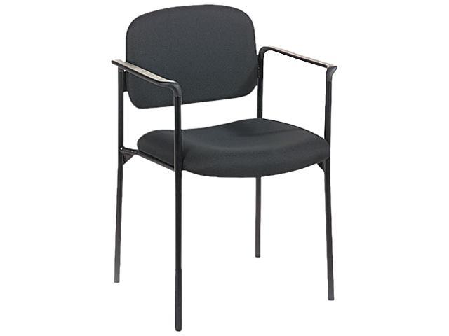 basyx VL616VA10 Guest Chair with Arms, Black