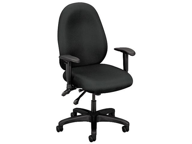 basyx VL630VA19 VL600 Series High-Performance High-Back Task Chair, Charcoal