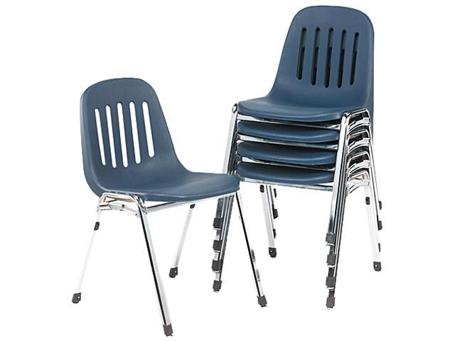 Bridgeport 36 084NVC5 Graduate Series Commercial Stack Chairs Navy Deluxe Ch
